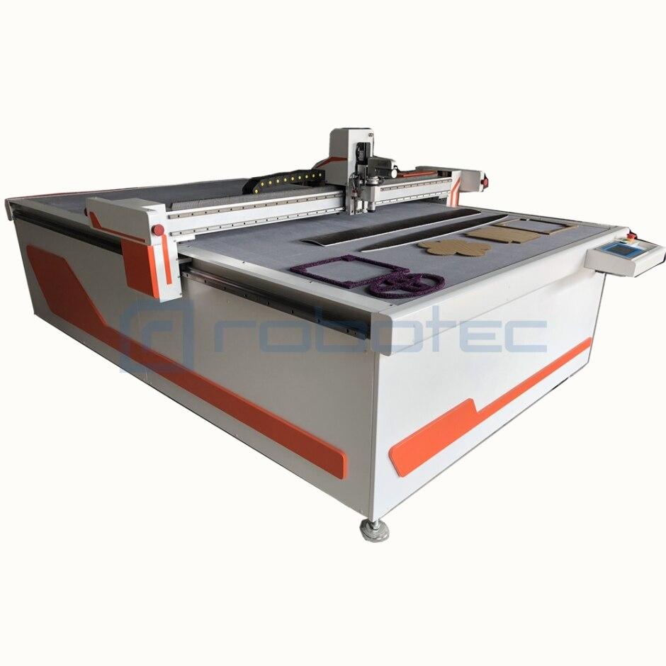 Hecho en China máquina de corte de cuchillo oscilante 1625 máquina de corte de cuchillo redondo