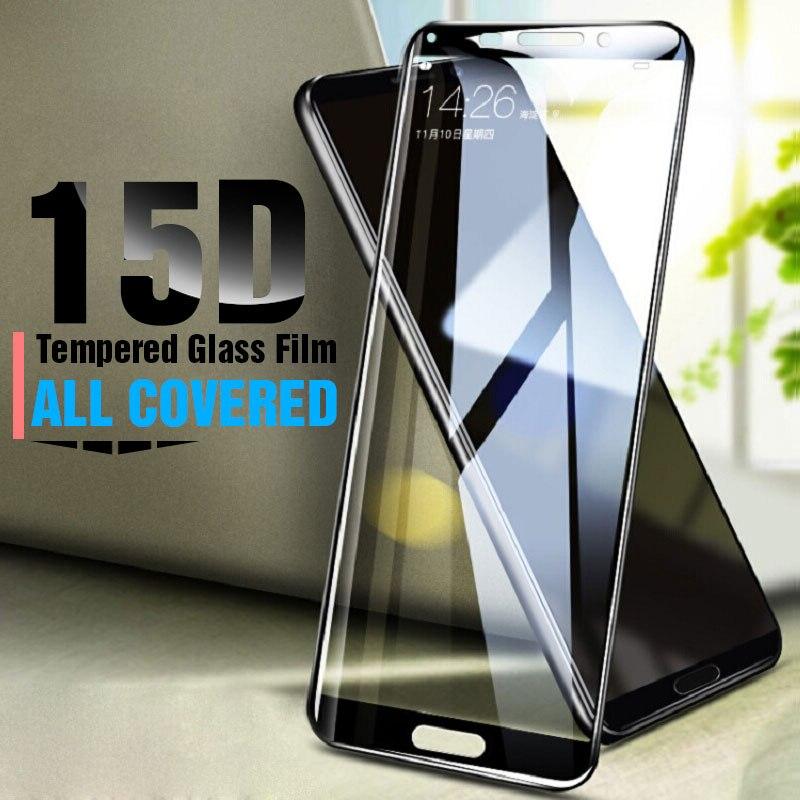 Vidrio Protector RHR 15D para Huawei Mate 10 20 Lite P20 Pro, Protector de pantalla de vidrio templado para Huawei P20 Lite Pro Film