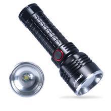 2019 Ultra Helle Taktische LED Taschenlampe Taschenlampe mit USB Lade Einstellbarer Fokus 5 Betriebsarten Gute Verkauf