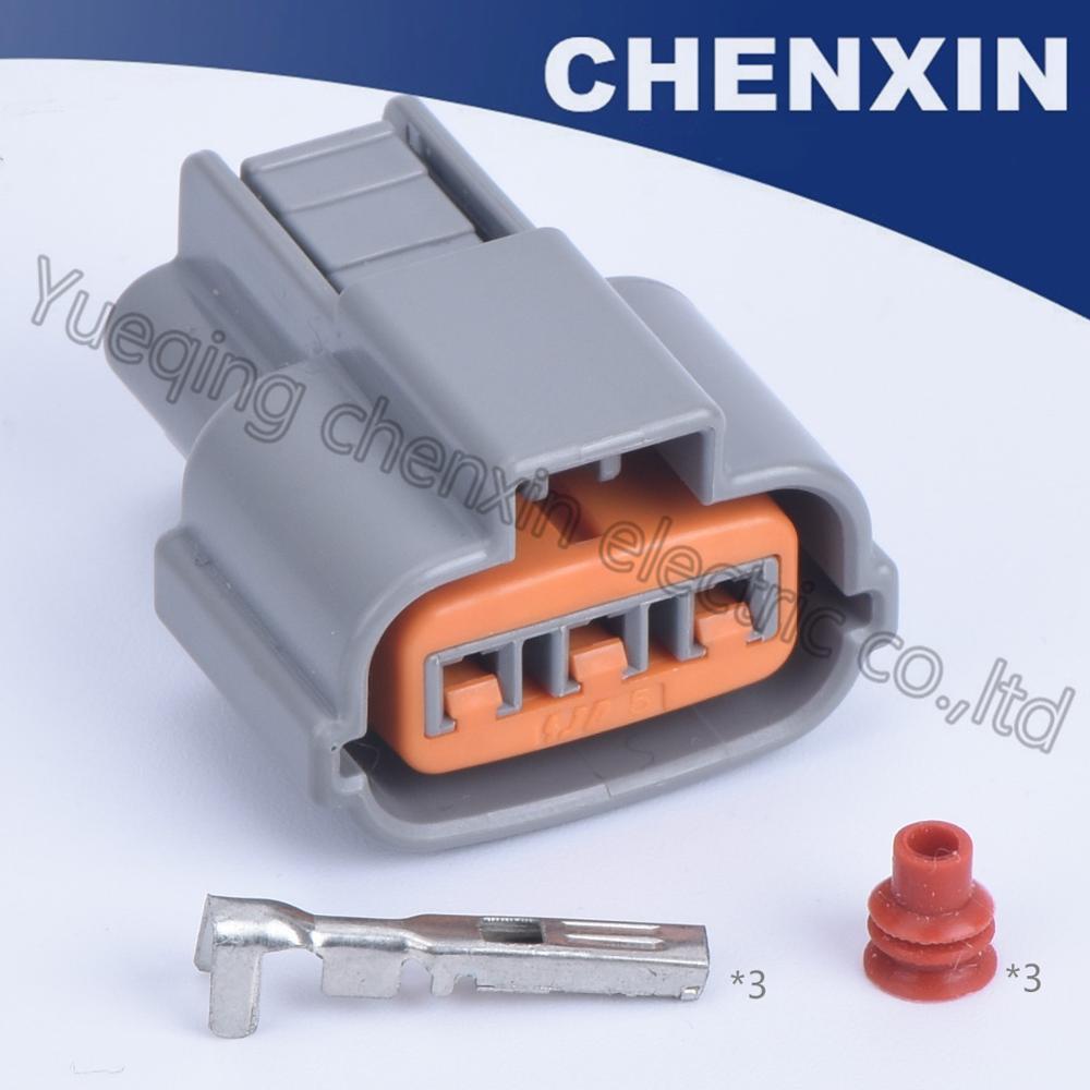 Gris 3 pines coche impermeable auto conector 1,2 hembra sensor cable eléctrico adaptador de enchufe
