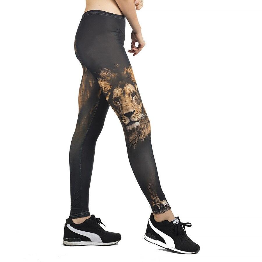 Fitness Leggings Women Slim High Waist Leggings Woman Pants Trousers Gothic Leggins Legging 3D Lion Printing