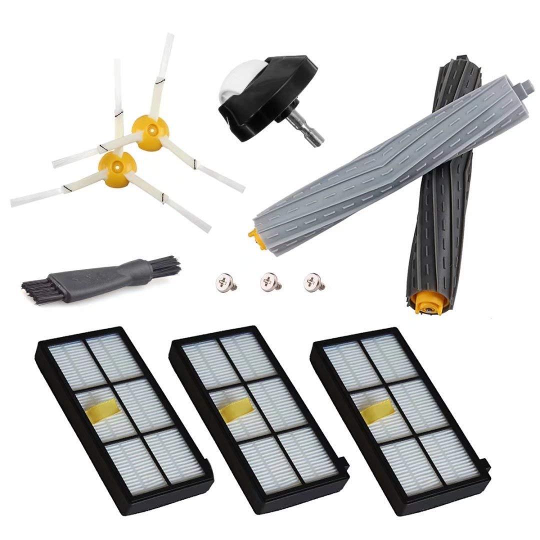 Nuevas piezas de repuesto para iRobot Roomba 860 880 805 860 980 960 aspiradoras con 2 filtros Hepa, 2 Cepillo Lateral, 2tangle-libre de residuos