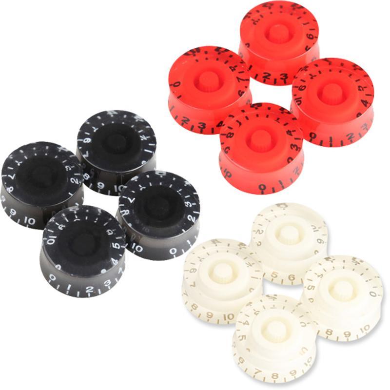 4 Uds perillas de velocidad control de tono volumen para guitarra eléctrica LP bajo 4 colores perillas para guitarra bajo Rojo Negro 25x12mm parte de guitarra
