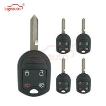 Kigoauto 5 pièces coque de clé à distance 4 bouton FO38 lame 164-R8073 pour Ford Edge Escape Fusion Mustang 2007 2008 2009 2010 2011