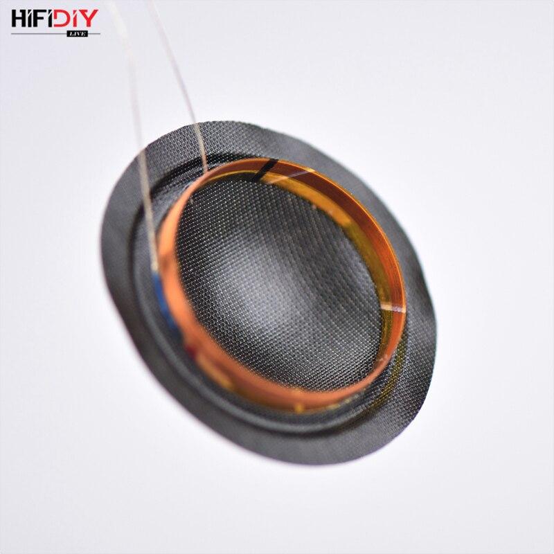 HIFIDIY LIVE 1 inch 25.4mm 25.5mm Tweeters Voice Coil black Silk Membrane Treble Speaker Repair accessories DIY Parts 6 ohm 15W
