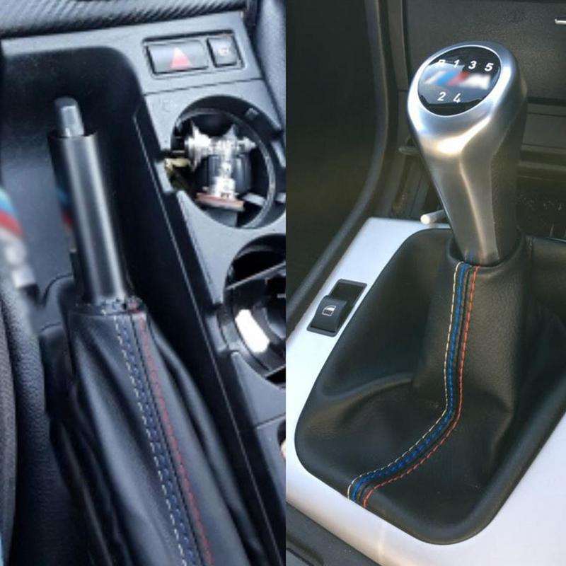 2 шт./компл. модификация автомобиля DIY аксессуары манжета ручного тормоза сдвиг загрузки кожаный чехол загрузки для BMW 3 серии E36 E46 M3