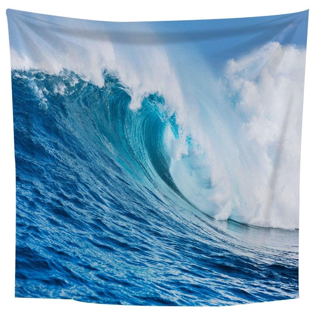 Cuadro de paisaje hermoso con ondas enormes cuadradas 1,8*1,8 m alfombra colgante para pared decoración de dormitorio