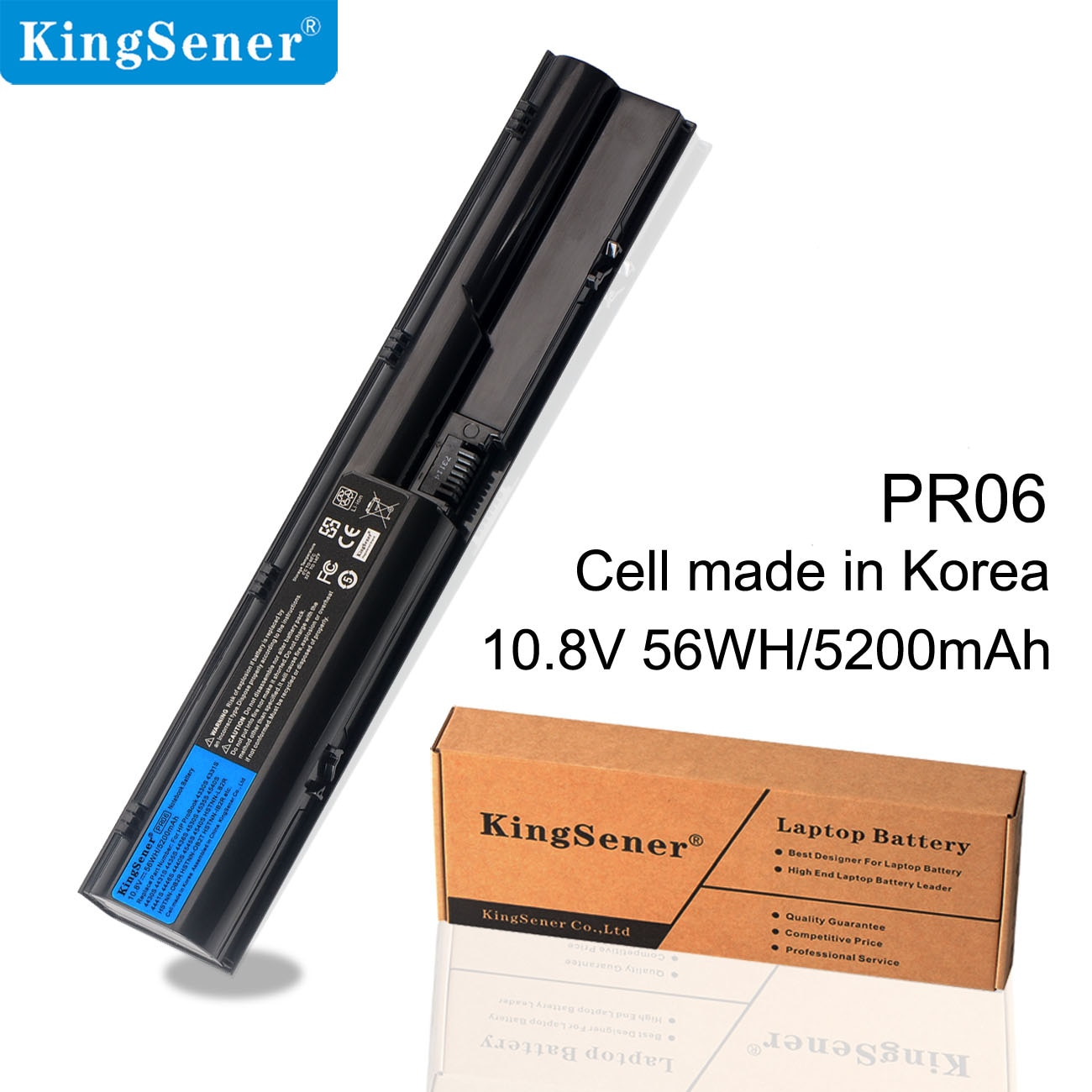 Аккумулятор KingSener PR06 PR09 для ноутбука HP ProBook 4330S 4331S 4530S 4540S 4535S 4430S 4435S 4436S HSTNN-OB2T/DB2R