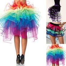 Unicorn Skirt Rainbow Tail Costume Women Lady TUTU Adult Petticoat Tulle Ballet Ribbon Party Pettiskirt Custom 8 Layer 60 cm