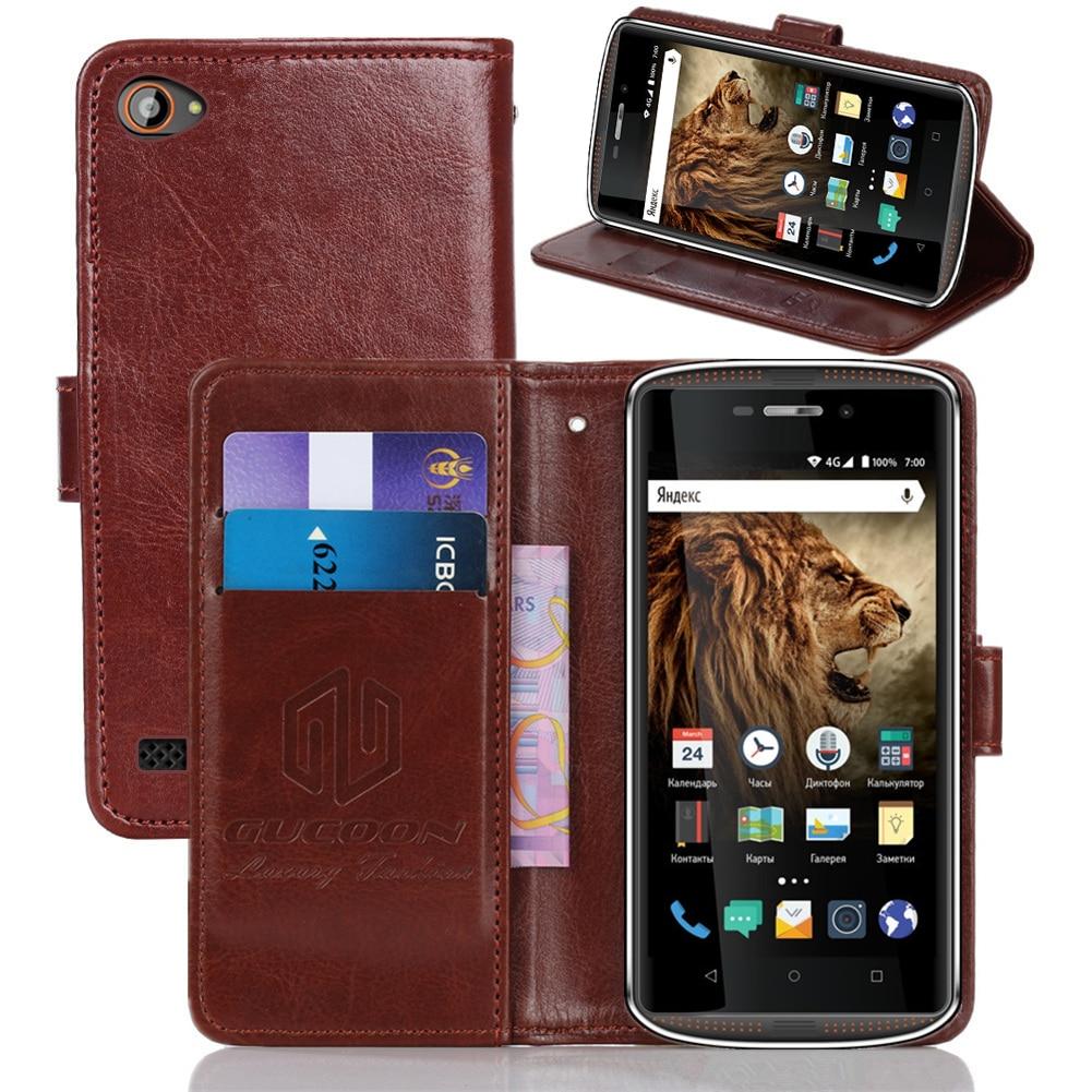 GUCOON Classic funda tipo billetera para Vertex Impress Tor Cube Cover PU cuero Vintage Flip Case moda teléfono bolsa escudo