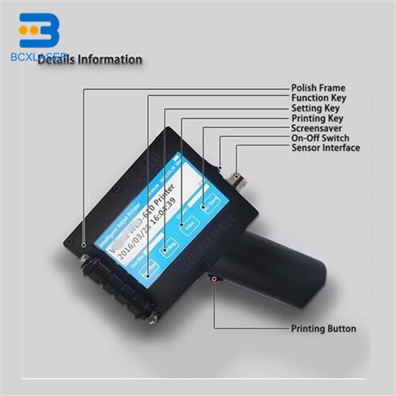 Картонная коробка ручной струйный принтер высокого качества ручной струйный принтер