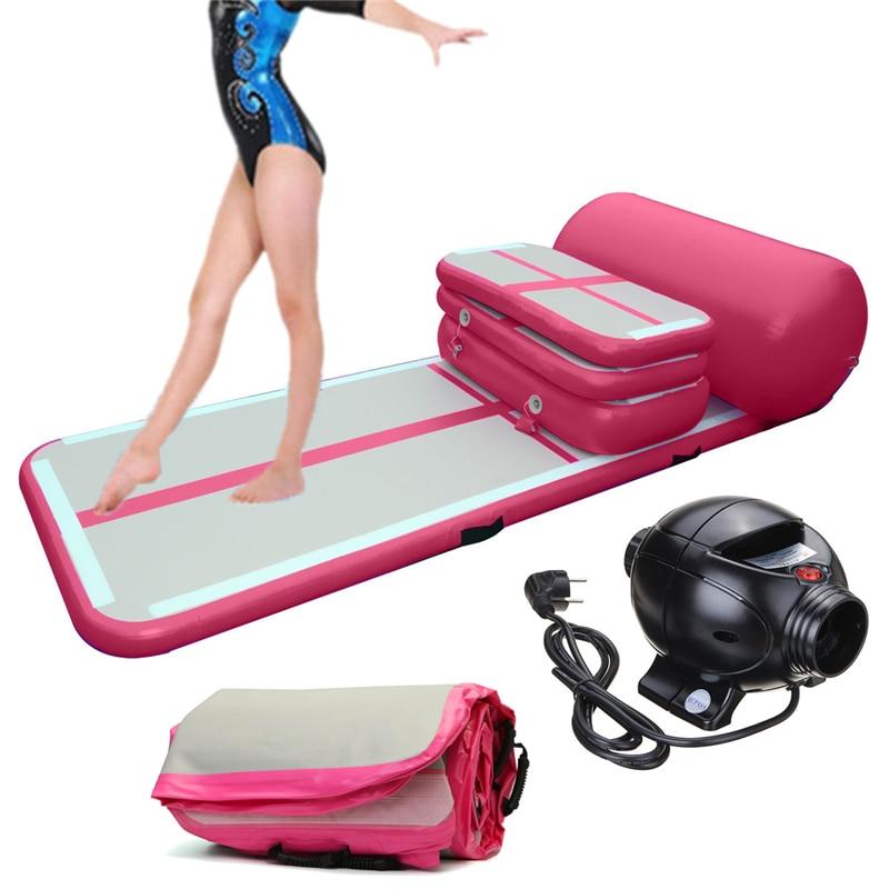 Juegos de pista de aire inflable para pista de caída de aire para animadoras de Yoga, entrenamiento de gimnasia, playa, en el agua, uso doméstico