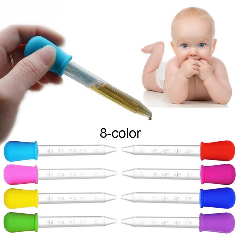8 Uds. Cuentagotas para bebé, alimentador de medicina infantil, dispositivo de Medicina de silicona, pipeta líquida, cuentagotas de alimentos, utensilios infantiles 5ML #15
