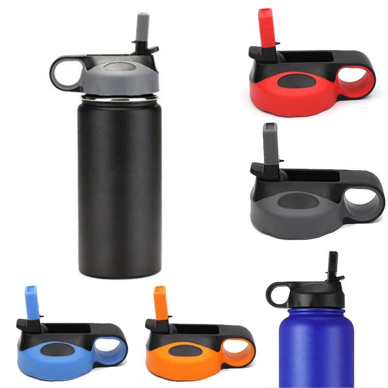 Tapa abatible de pajita Drinkware para tapa de botella de agua de boca ancha 18 32 40 64oz