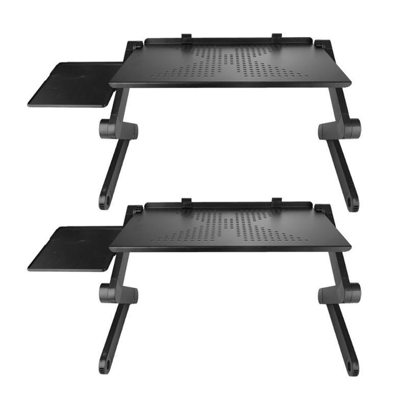Портативный складной регулируемый складной стол для ноутбука, компьютерный складной охлаждающий стол, подставка для компьютера, лоток для ...