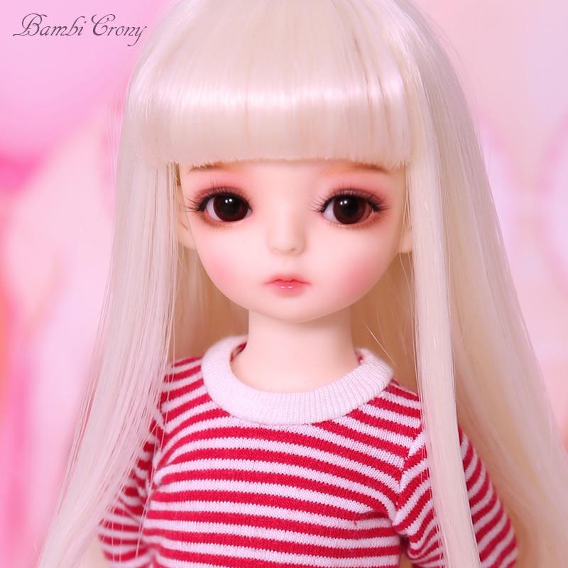 Muñeca BJD SD de BambiCrony Vanilla Fullset YoSD Littlefee Luts 1/6, figuras de resina, juguetes articulados, peluca, zapatos, ropa, ojos libres