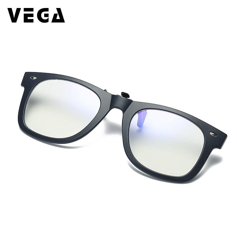 VEGA Anti luz azul Clip en gafas de sol sobre gafas de sol polarizadas mujeres hombre abatible hacia arriba Fit sobre las gafas de ordenador 237