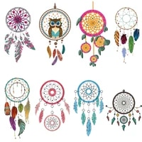 dream catcher iron on patches heat transfer stickers decor t shirt applique on clothes dresses backpack stripes diy washable e