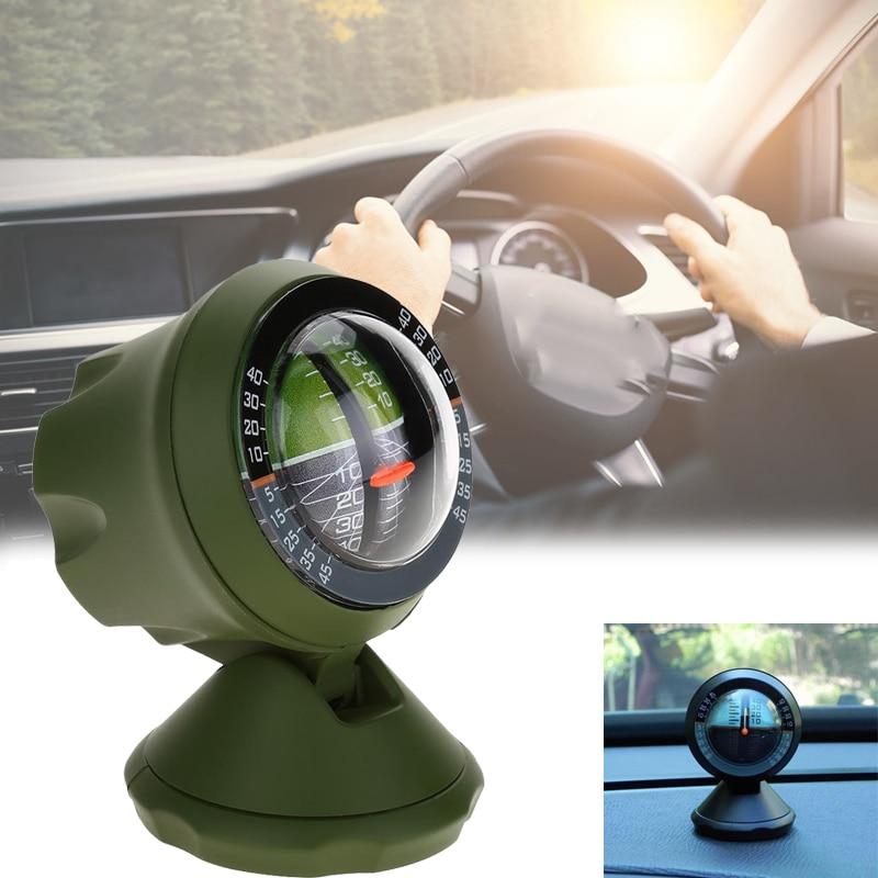 Открытый многофункциональный автомобильный Инклинометр Угол наклона измеритель балансировки измерительное оборудование профессиональный Компас для вождения пешего туризма
