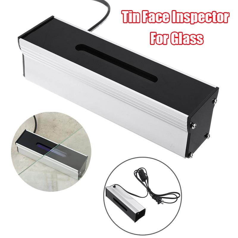 Detector lateral de estaño de 4W, carcasa de aluminio, Detector lateral de lámpara UV, Inspector de indicador frontal de estaño para luces indicadoras de vidrio de 17cm x 5cm x 5cm