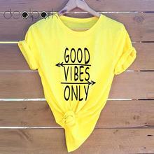 Women T-shirt Arrows Letters Slogan Print tshirts Round Neck Short Sleeve Cool Tee Shirts 3XL 4XL 5XL Plus Size Summer Tops 2020