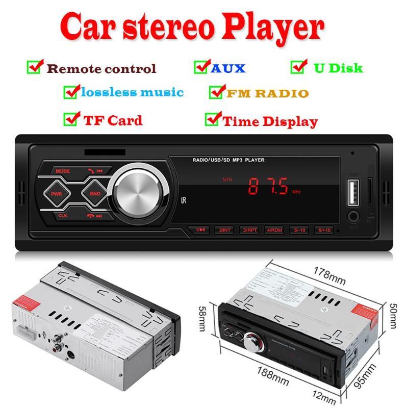 Radio Estéreo para coche de 12 V, Redio de entrada auxiliar FM, reproductor de música MP3 Universal para coche, Radio FM, tarjeta Aux TF, Radios para coche de disco U, 1788E