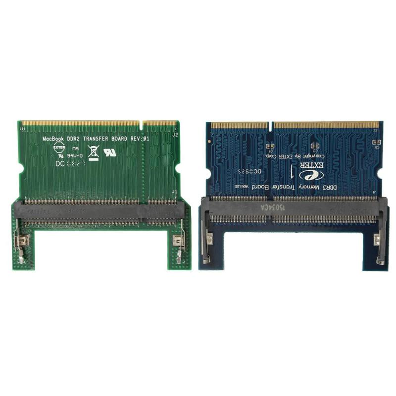 VODOOL DDR2/DDR3 Laptop SO DIMM to Desktop DIMM Adapter Memory RAM Adapter Card Computer Component Accessory Add On Cards
