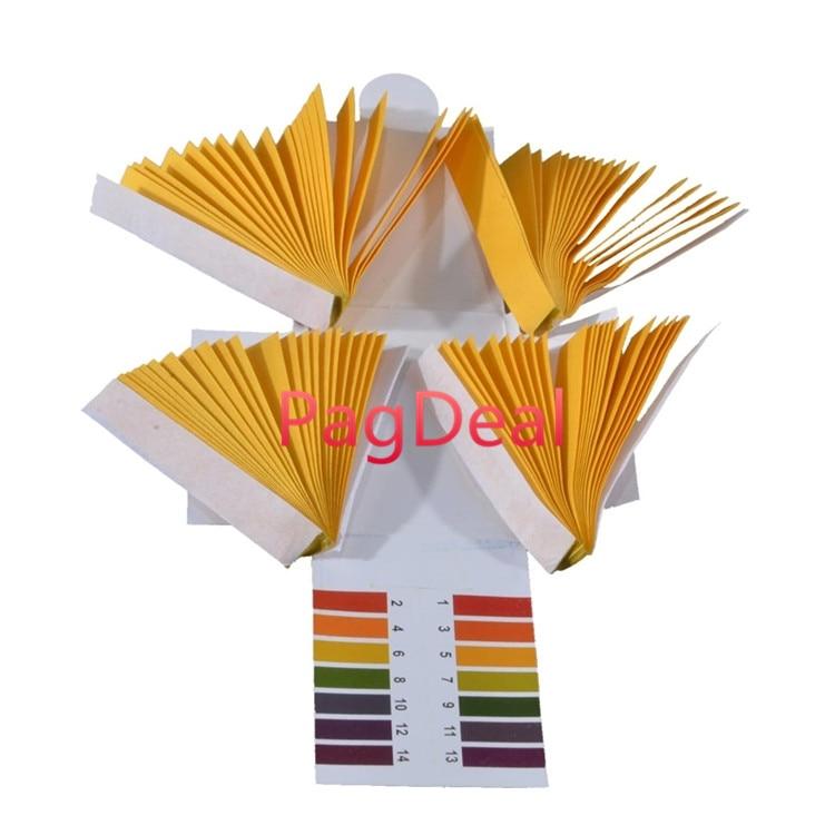 Tiras de papel de PH 80x, probador de tornasol, 1-14 rango completo, tiras de prueba de Tanque De Agua de peces tropicales con ácido alcalino pH