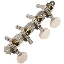 Macchine Sintonizzatori Spine di Sintonia Key con il Bianco Perla Manopole 4L + 4R per Mandolino