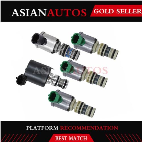 5 piezas 5L40E transmisión, Maestro de la CPE TCC cerrar solenoides de la válvula de Control de Kit Compatible para Cadillac GM BMW 1999-2003