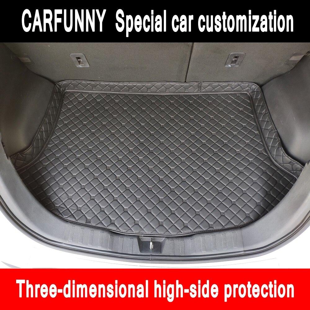 """Custom fit car Trunk mats for BMW 3 series E46 E90 E91 E92 E93 F30 F31 F34 GT 5D car styling carpet floor liners  """