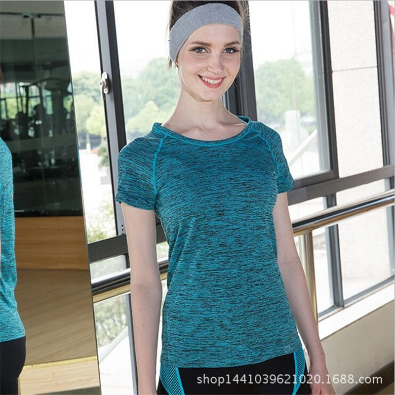 Women Quick Dry Summer Sports Running T Shirts Clothes Women Breathable Fitness Gym T-Shirts Tops Vetement Femme Camisetas