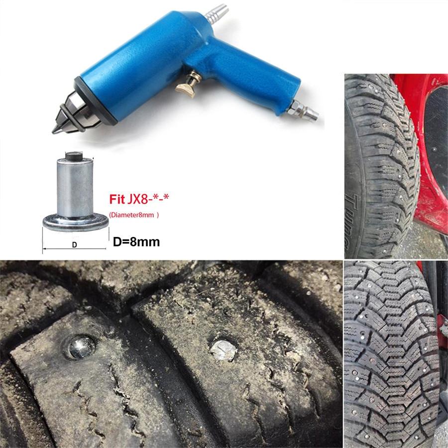 Car Tire Nail Air Gun Tool For 8mm Bottom Diameter Car Tires Studs Air Hit Tire Holes Screw Snow Spikes Wheel Tyres Snow Chains