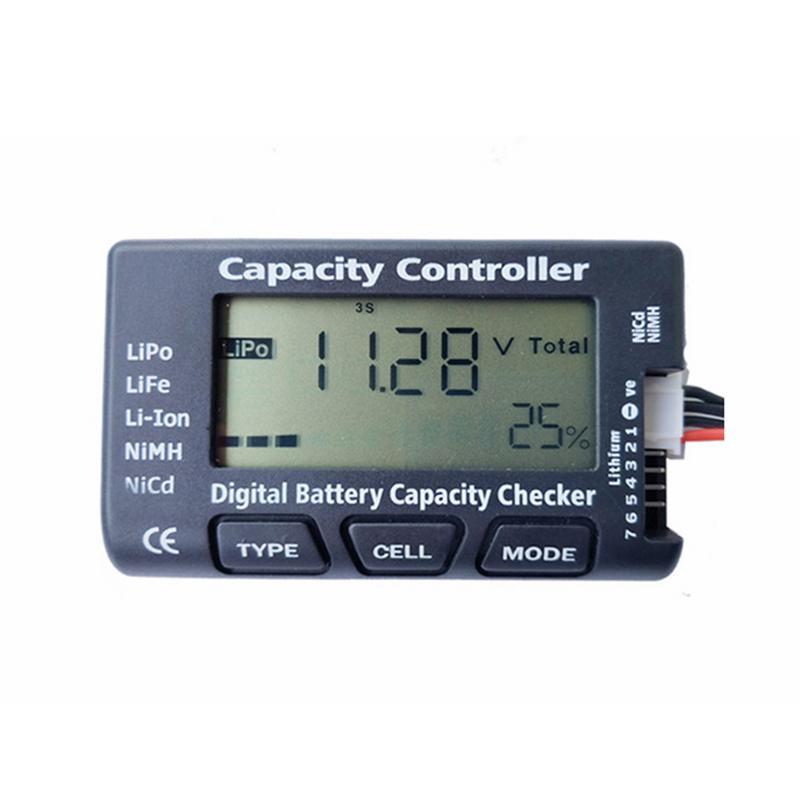 Probador de batería Digital LCD, probador de voltaje de capacidad de batería, comprobador para LiPo LiF, medidor de fuente de alimentación de batería Li-ion