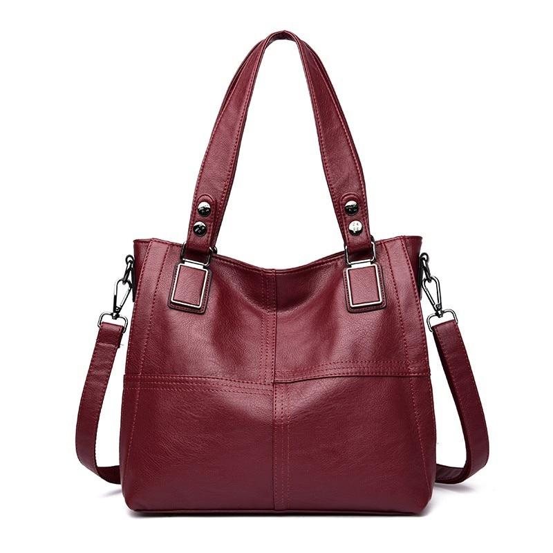 2019 Women Leather Handbags High Quality Sac A Main Female Top-handle Bags Women 2019 Ladies Hand Bag Vintage Shoulder Bag  Sac
