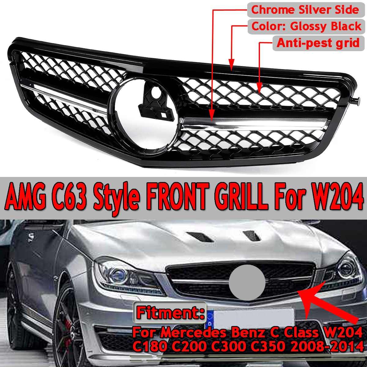 Para AMG C63 estilo nuevo coche parrilla superior delantera para Mercedes para...