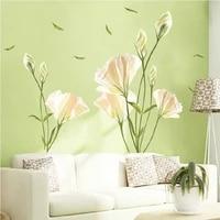 Stickers muraux la nouvelle fleur decoration de la maison Simple fond Art Mural amovible TV decalcomanies mode