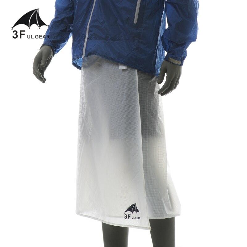 3F ul ギア 15D シリコーンコーティング雨具レインウェアサイクリングキャンプハイキング雨パンツ軽量防水雨スカート 65 グラム