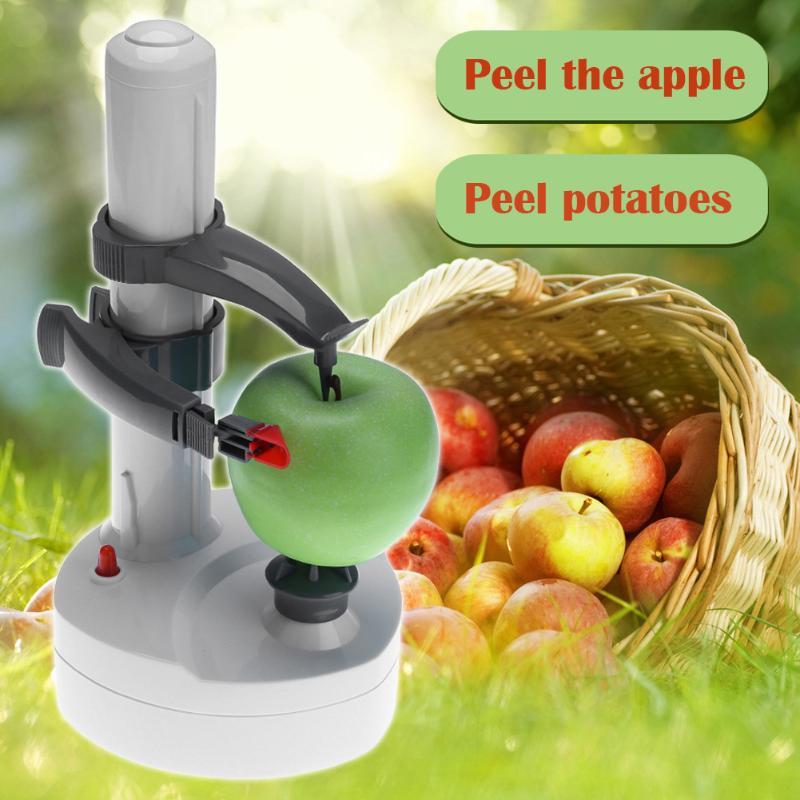 Descascador elétrico multifuncional, para frutas e legumes maçã, descascador automático de aço inoxidável, ferramenta de cozinha