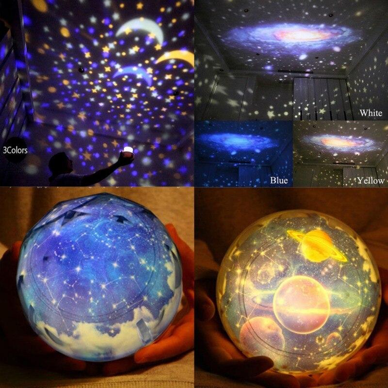 Lampka nocna romantyczna Planetarium gwiazda niebiański projektor kosmos światło nocne niebo lampa ziemska