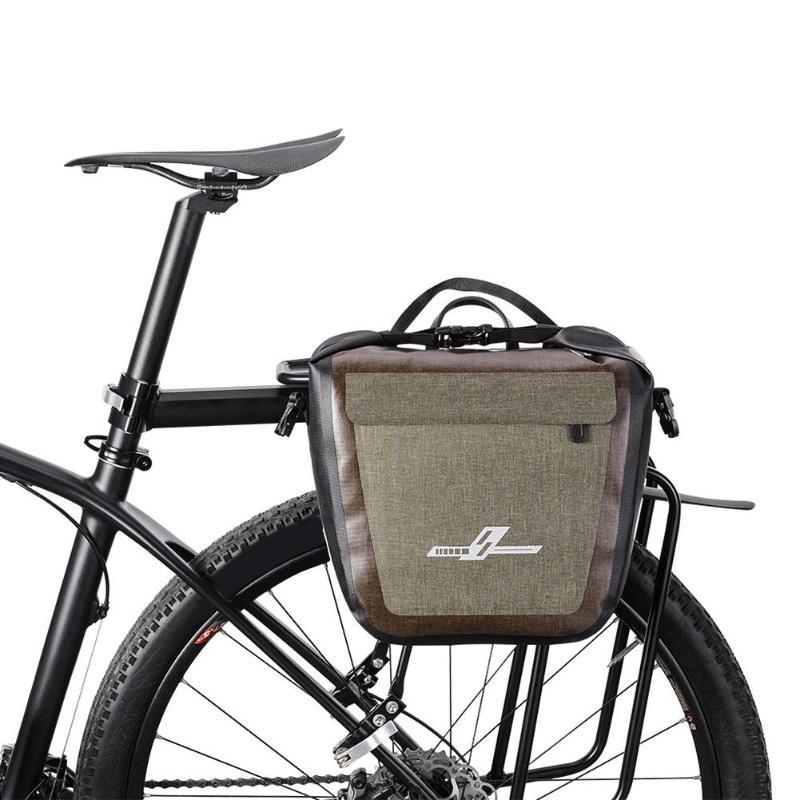 19L bolsa de sillín de bicicleta totalmente impermeable, bicicleta de montaña, bicicleta de carretera, bolsa de Rack trasero, portaequipajes, bolsa de estante de asiento trasero, Dropshipping