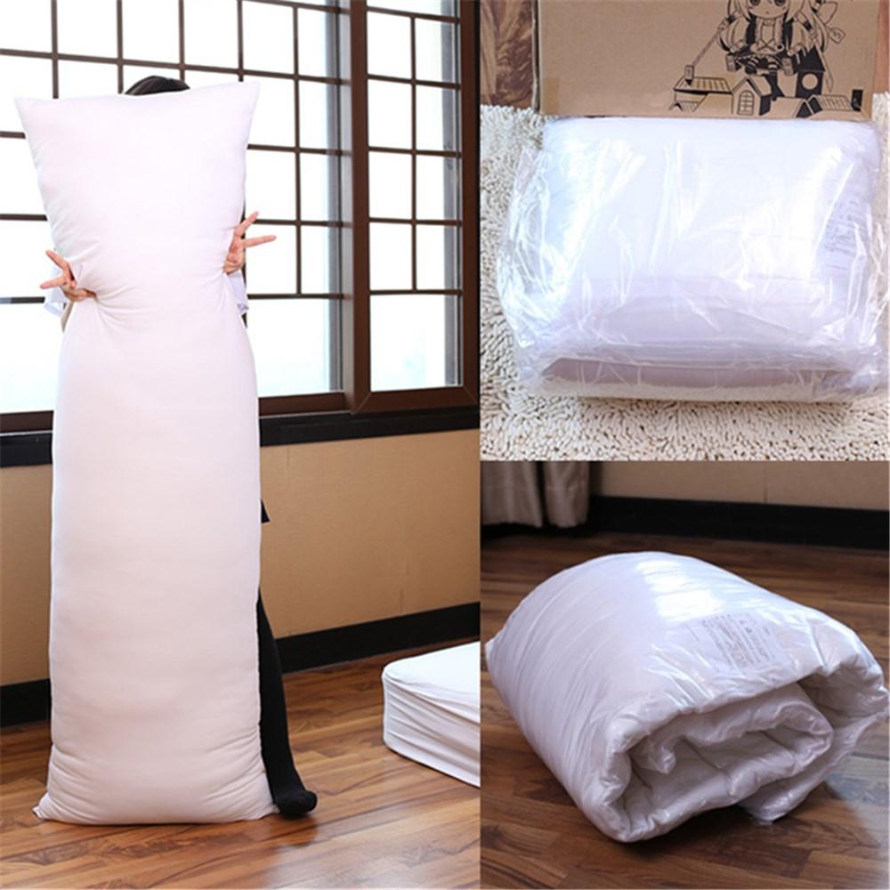 الأبيض 150x50 سنتيمتر المعانقة وسادة طويلة الداخلية الجسم حشوة وسادة أنيمي مستطيل النوم قيلولة وسادة المنزل نوم الفراش Accessories10