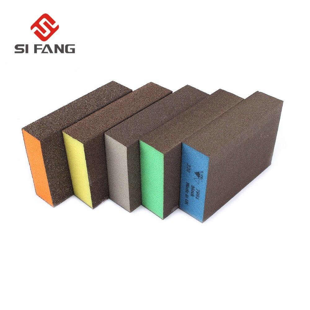 10 pçs bloco de lixar viga esponja almofada de polimento móveis polir lixa ferramentas lixa sortidas grit 60 80 120 180 220