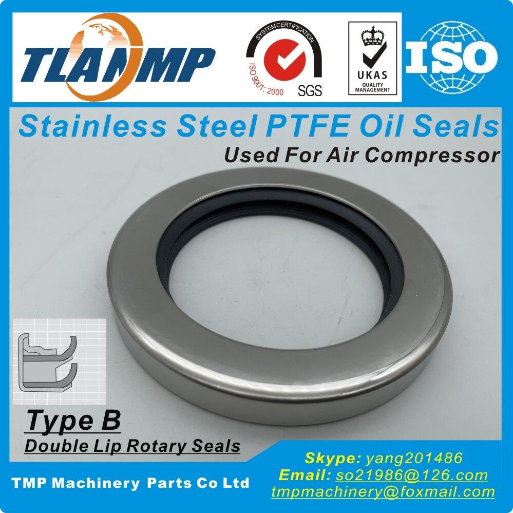 Juntas de labio doble de 90mm de tamaño interno, 90x110x10mm, juntas con aceite PTFE de acero inoxidable tipo B, usadas para compresor de aire