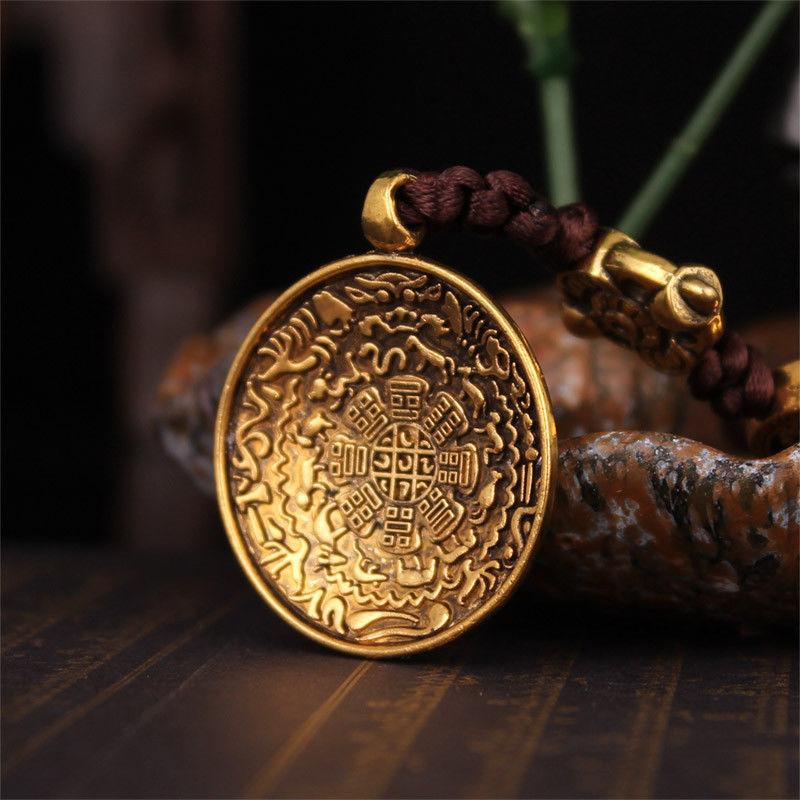 Tibet Budista Tibetano Zodíaco Sidpaho Vajra Dorje Amuleto Pingente Nó Infinito