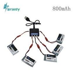 3.7v 800mah 25c lipo bateria e (5 em 1) carregador para syma x5 x5hc x5hw x5uw x5uc bateria rc quadcopter zangão peça de reposição 902540