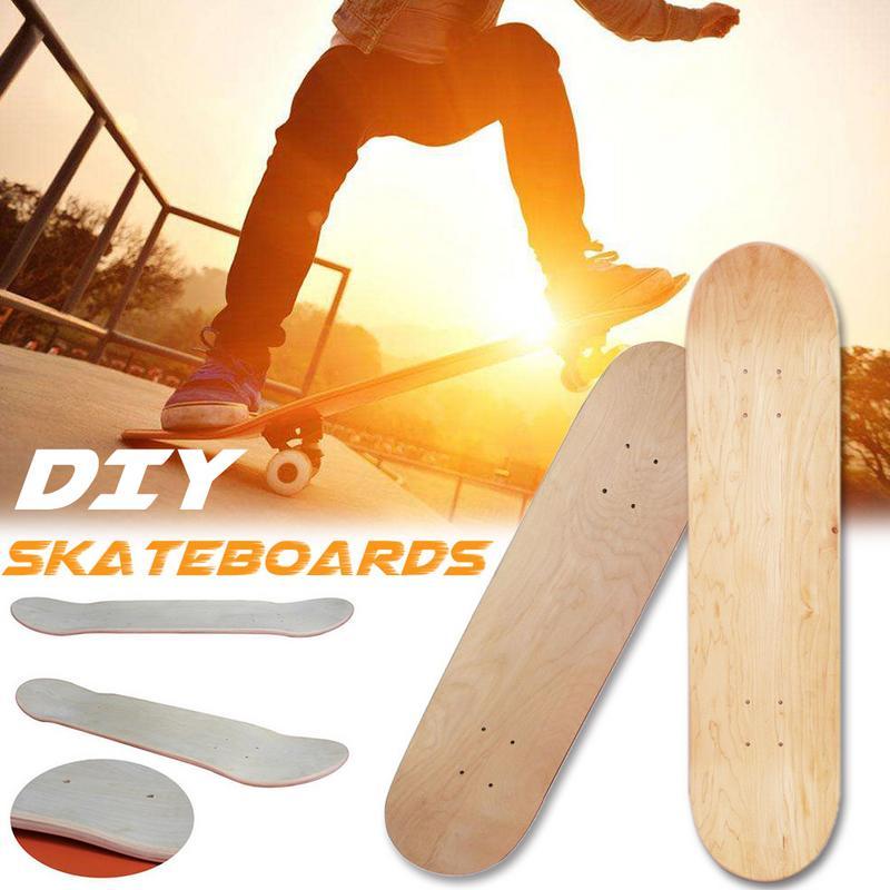 Maple en blanco doble cóncavo Skateboard Tabla de Skate Natural cubierta de madera Arce 8 pulgadas 8 capas