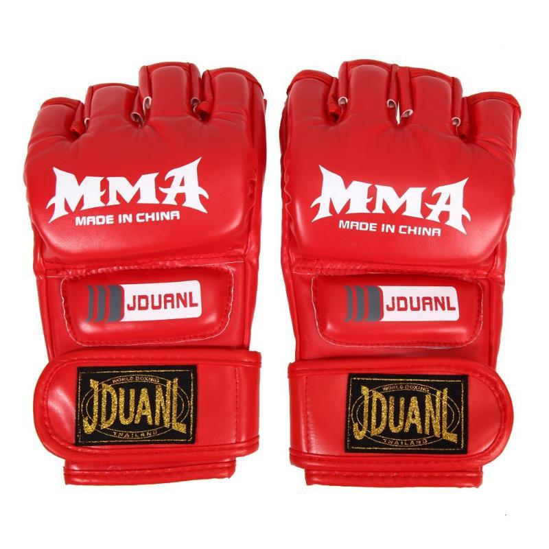 MMA Muay Thai bolsa de boxeo para gimnasio mitad Mitt tren Sparring guantes de Kick Boxing para adultos entrenamiento de boxeo Fitness 22X11X2,5 cm