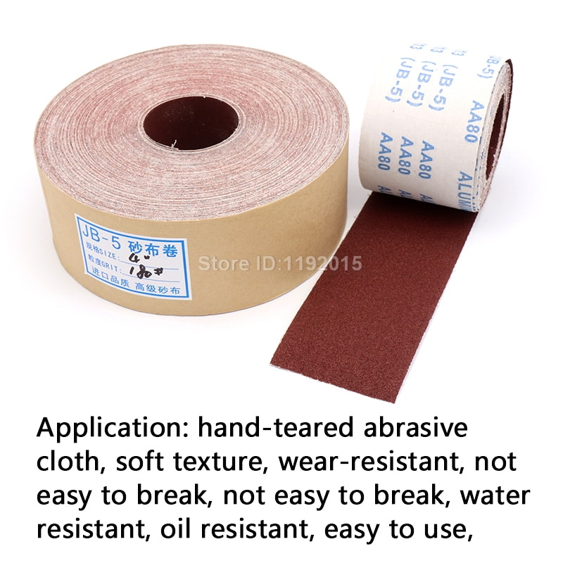 1 metro 80-600 carta abrasiva per lucidatura in rotolo di tela - Utensili abrasivi - Fotografia 5