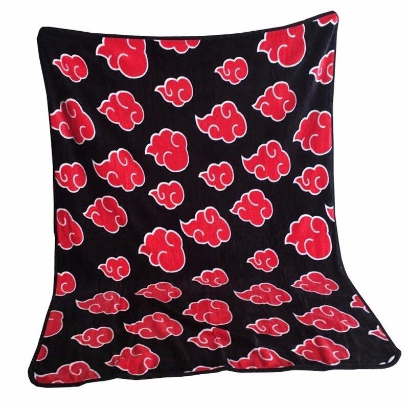 נארוטו פלנל חם משרד נסיעות שמיכת יפן אנימה נארוטו Akatsuki אוצ יהא סאסקה קוספליי ספה מיטת הברך שמיכת כיסוי מצעים